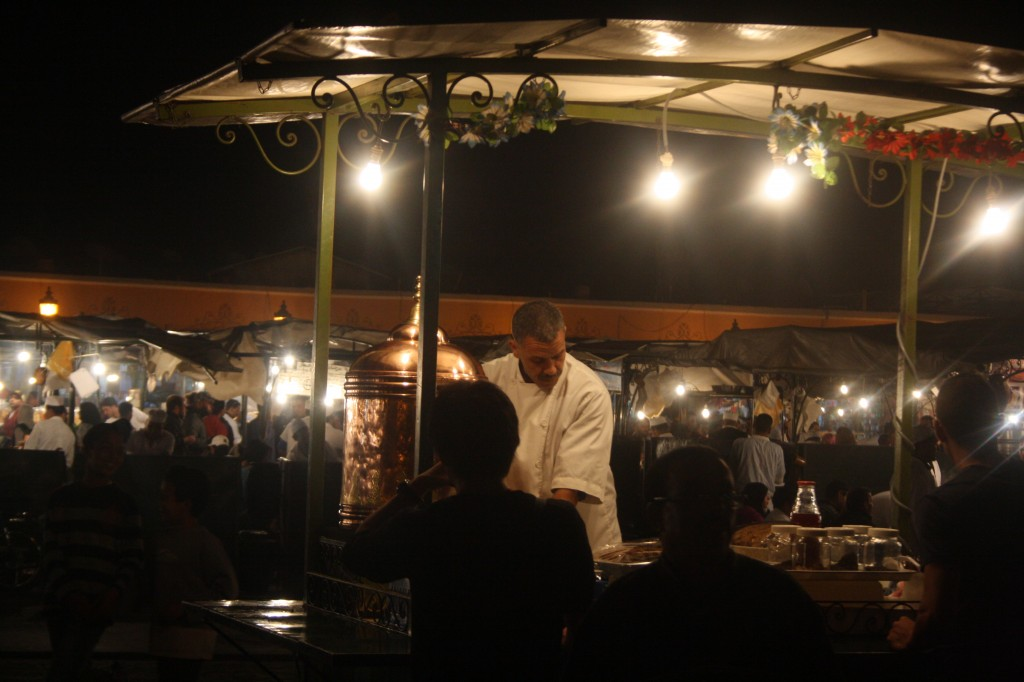 Night markets in Marrakesh