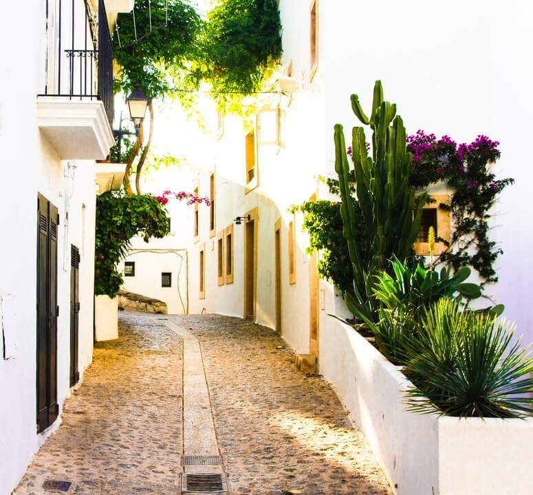 beautiful streets of ibiza