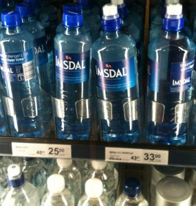 how much is a bottle of water in Oslo