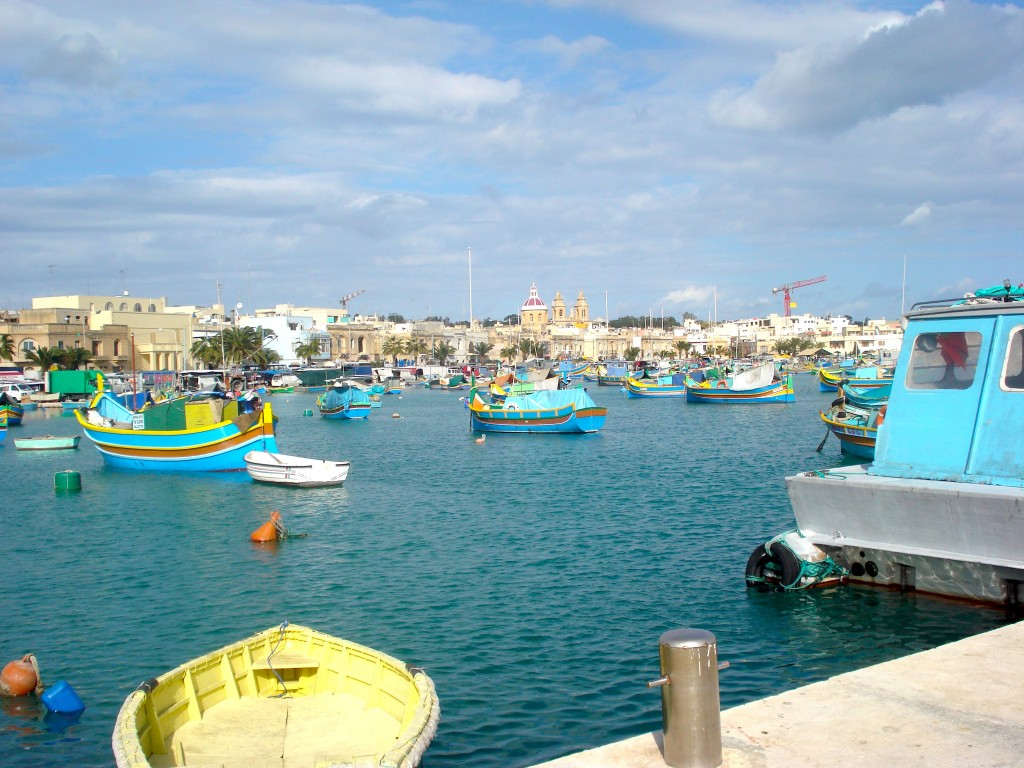 Looking out over Malta