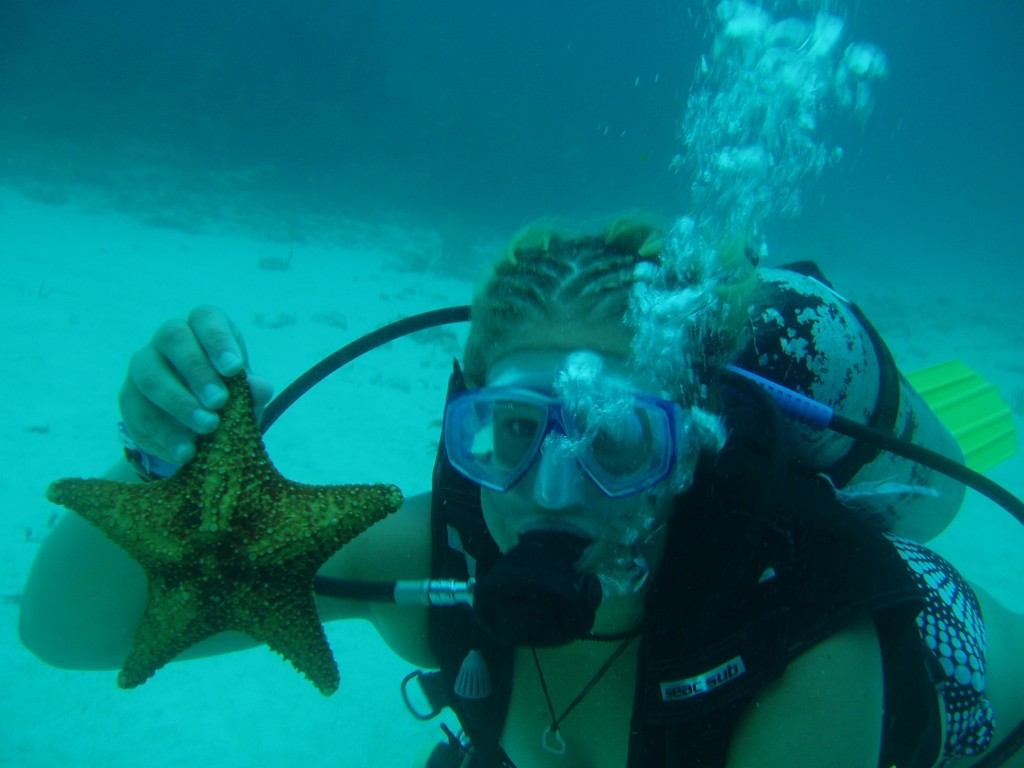 Scuba diving in Cancun, Mexico