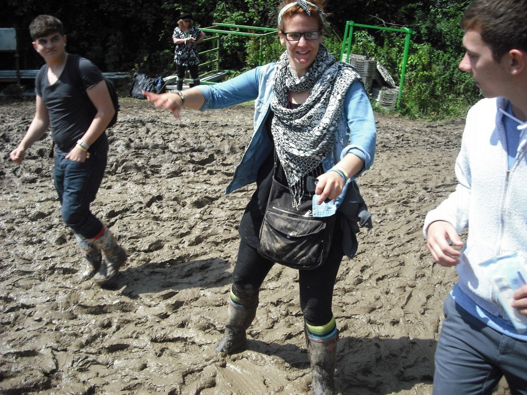 Crazy mud at Glastonbury