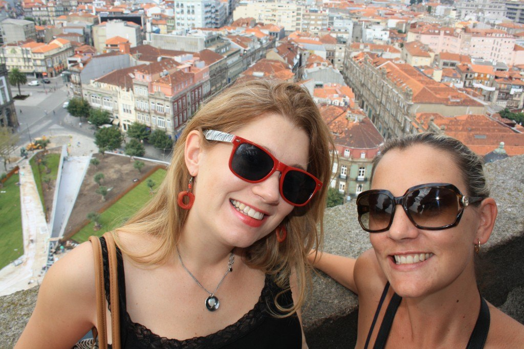 View from the top of the tower in Porto