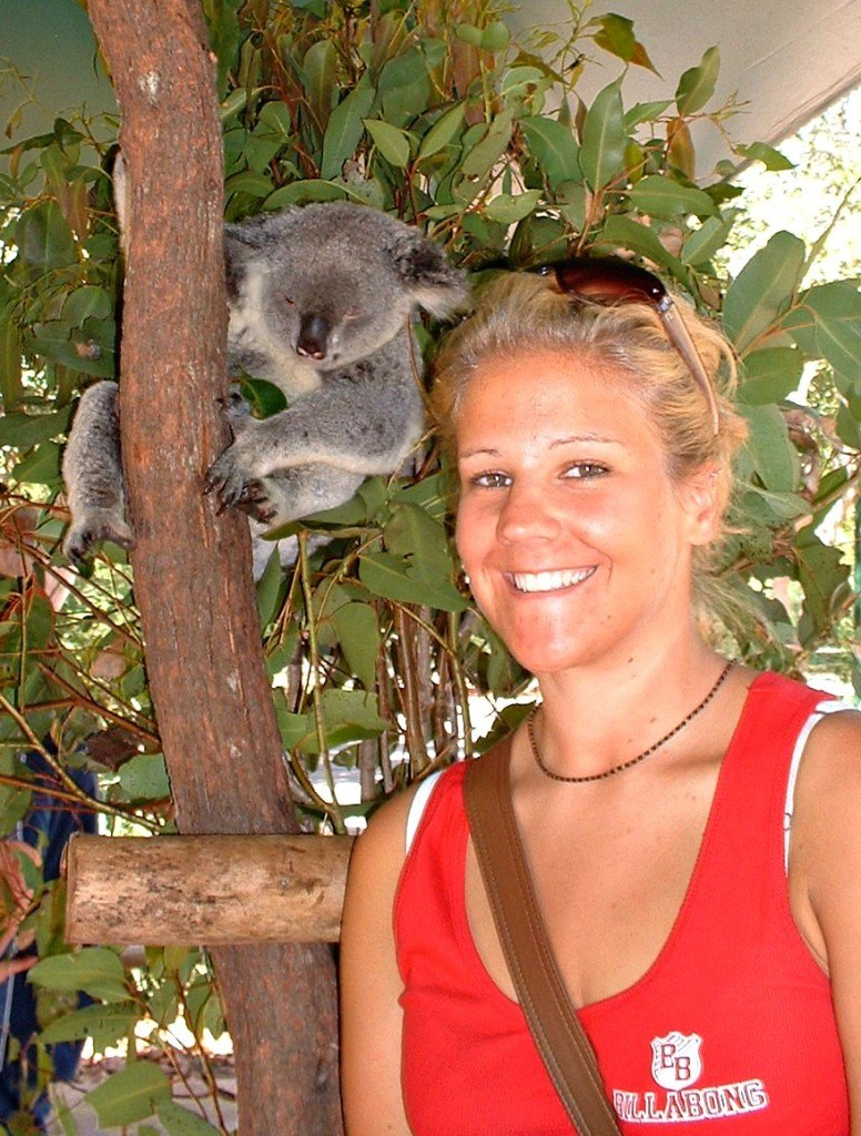 Me and koala at Australia Zoo