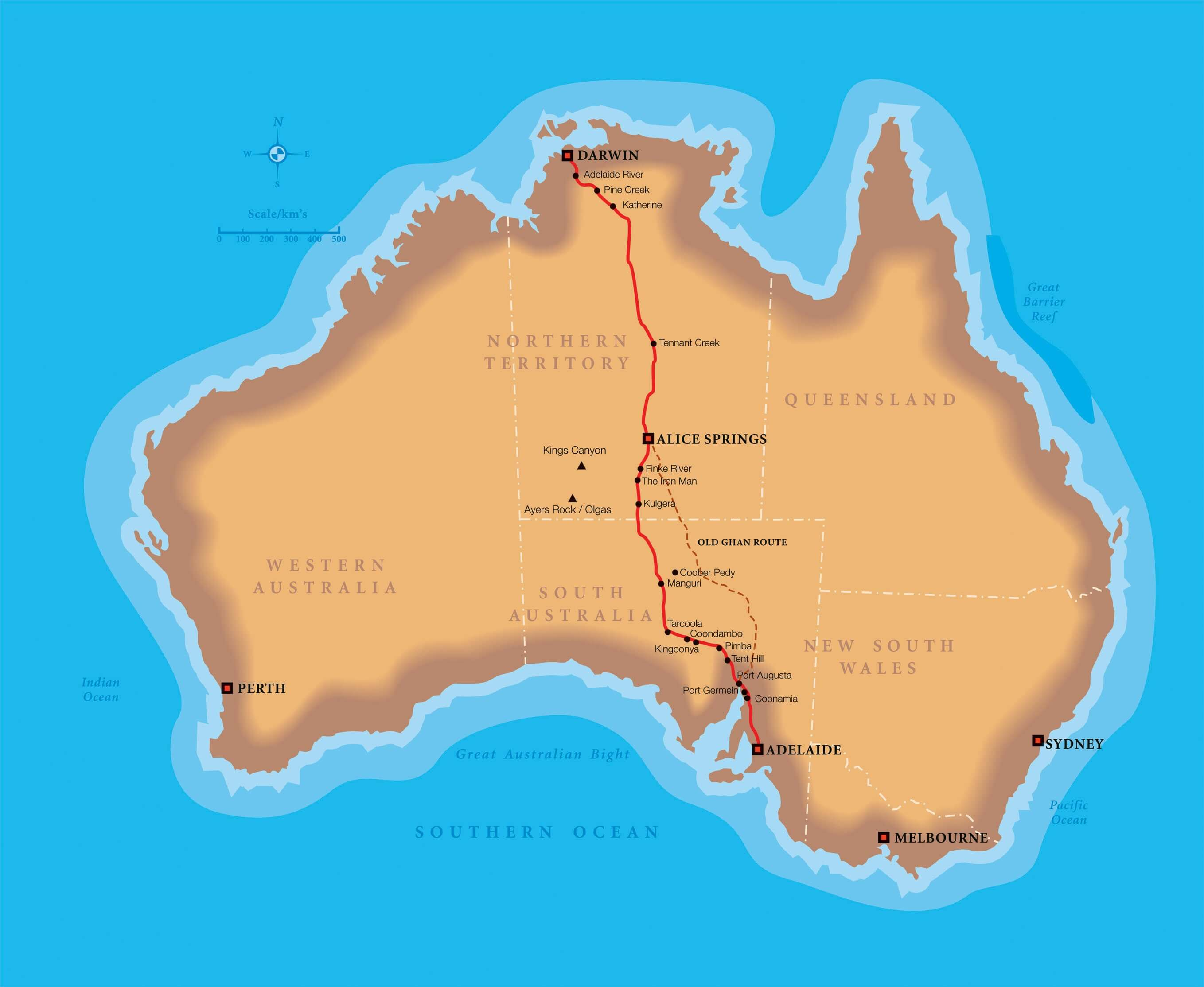 Get Me Off The Ghan! Getting Around Australia