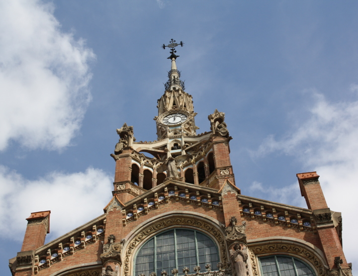 The Hospital de la Santa Creu i de Sant Pau in Barcelona