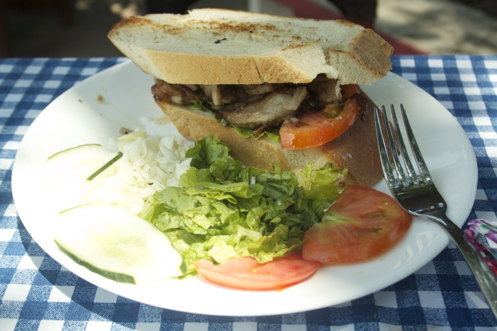 Pork sandwich in Trinidad