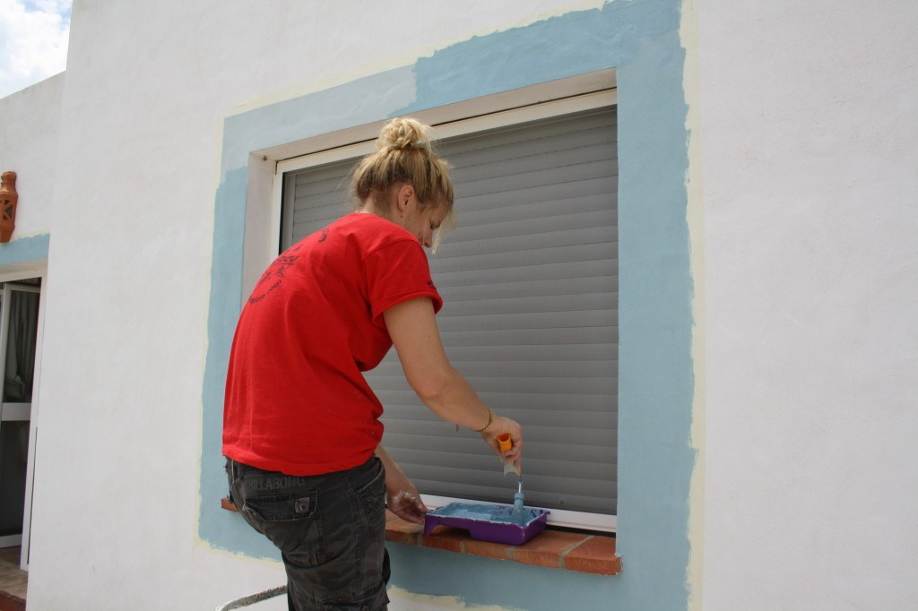 Me painting in Conil, Spain