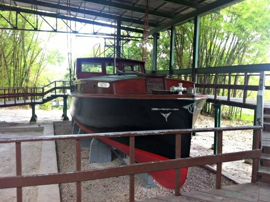 Hemingways boat at his house
