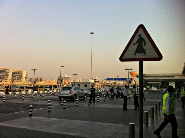 Qatar airport escape