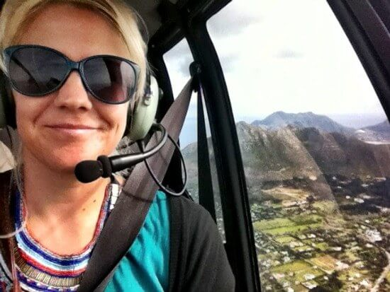 Helicopter around Table Mountain