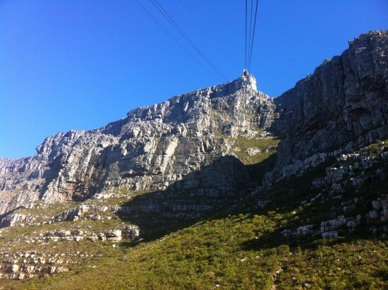 The cable car at Table Mountain