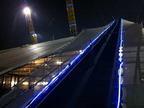 Up at the O2 from the bottom