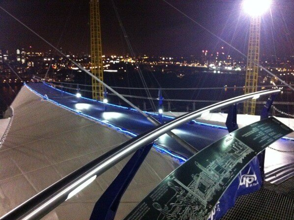 The view from the top of Up at the O2