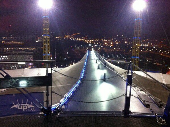 View from up at the O2