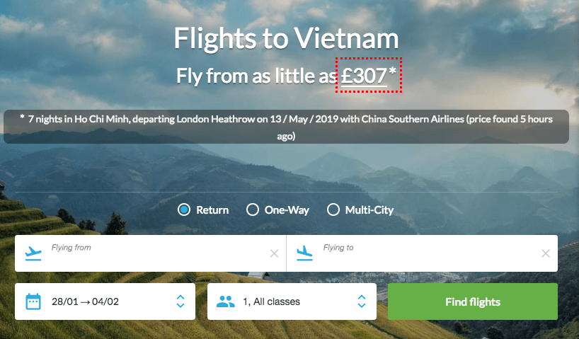 How to book flights to Vietnam
