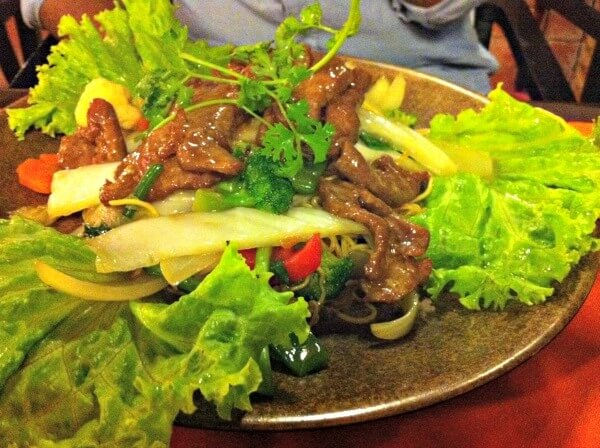 Beef and salad in Nha Trang