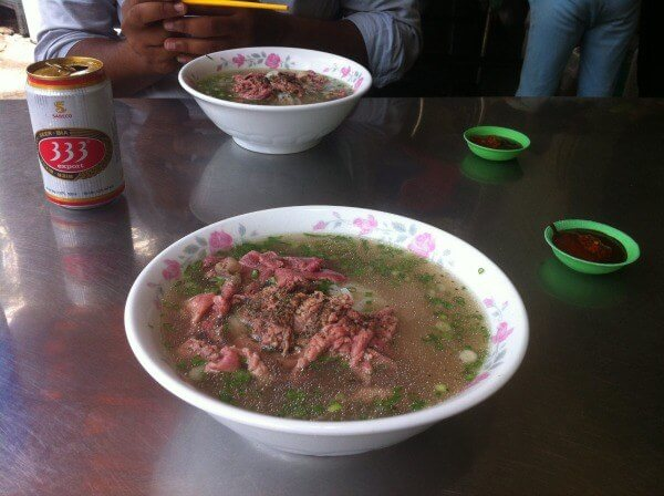 Beef in broth pho in Vietnam