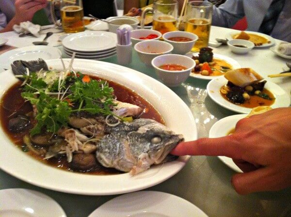 Fish at the wedding in Vietnam