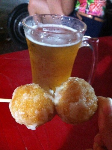 dough balls and beer