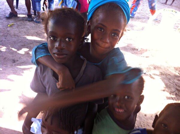 Photographing children in Gambia