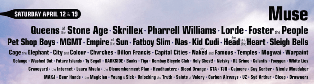 Best of the Coachella line up