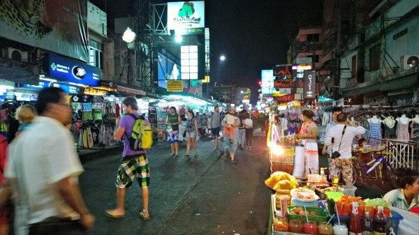 Early night Khao San Road