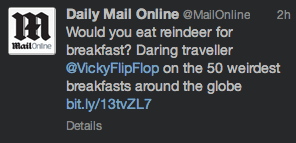 Breakfasts in the Daily Mail