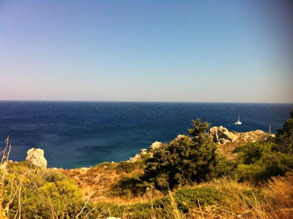 Cycling in Rhodes coastline