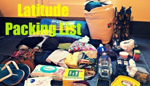 Packing List for Latitude Festival