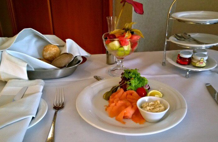 Room service at the intercontinental Budapest
