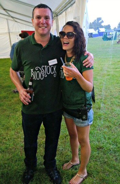 Two of the Blogstock organisers