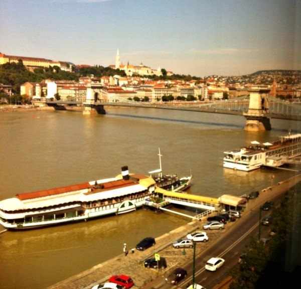 View over the Danube from the Intercontinental