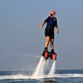 Me flyboarding with Vallarta Adventures