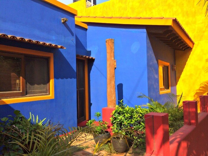 blue houses in San Pancho