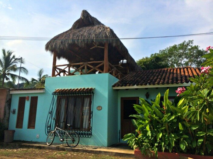 blue house in San Pancho