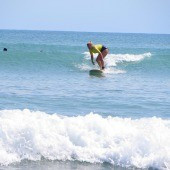 Learning to Surf at the Surf House in San Pancho