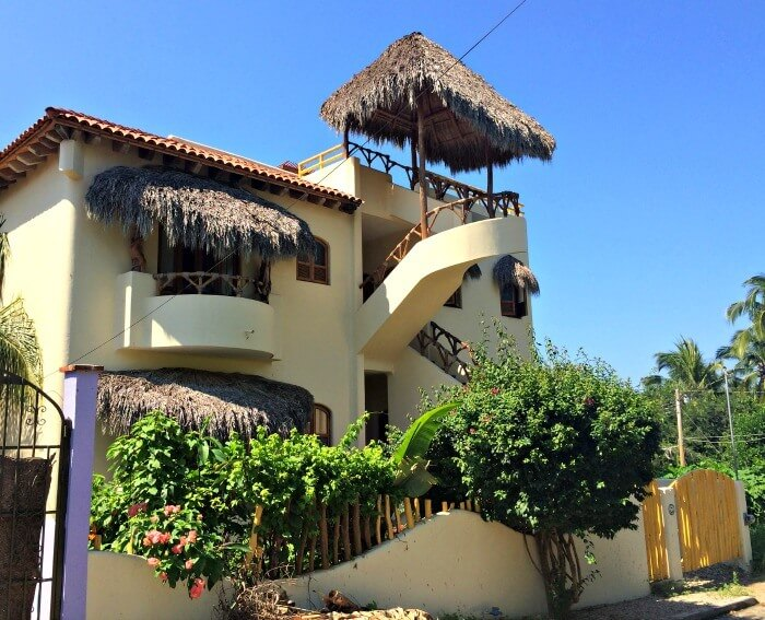 Colourful houses of San Pancho