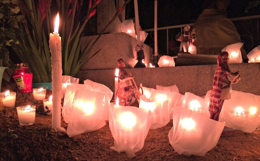 Candles at day of the dead festival