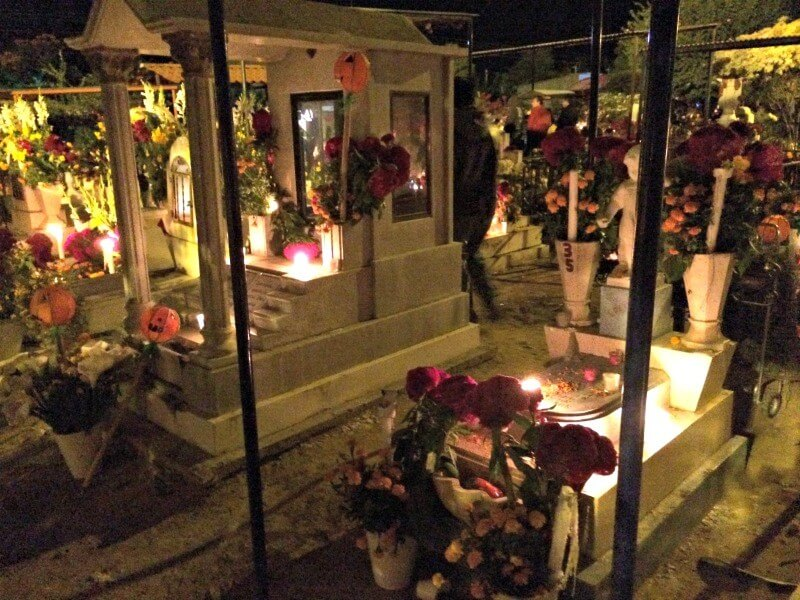 Cemetery at Day of the Dead Festival