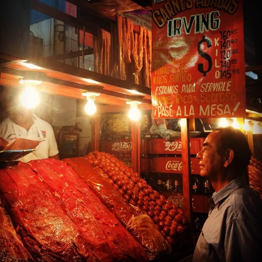 Meat market Oaxaca