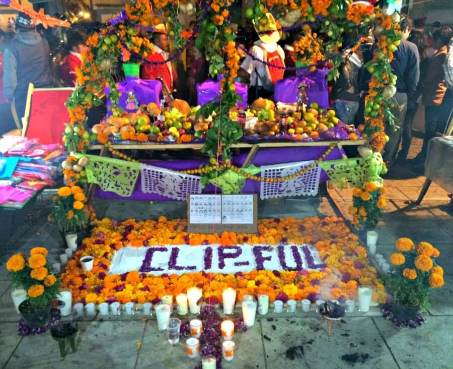 altar at Day of the Dead Festival