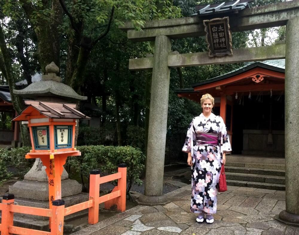 Dressing up as a geisha in Kyoto