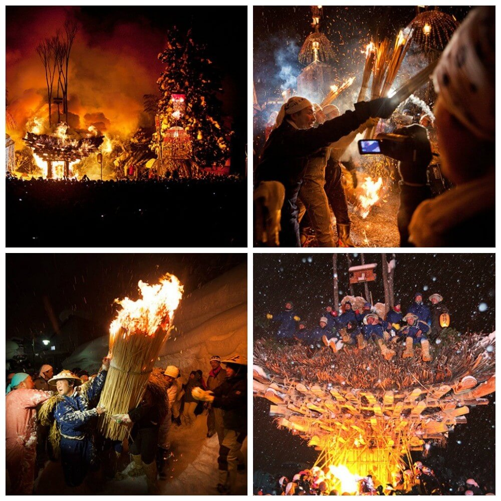 What is the Dosojin Fire Festival