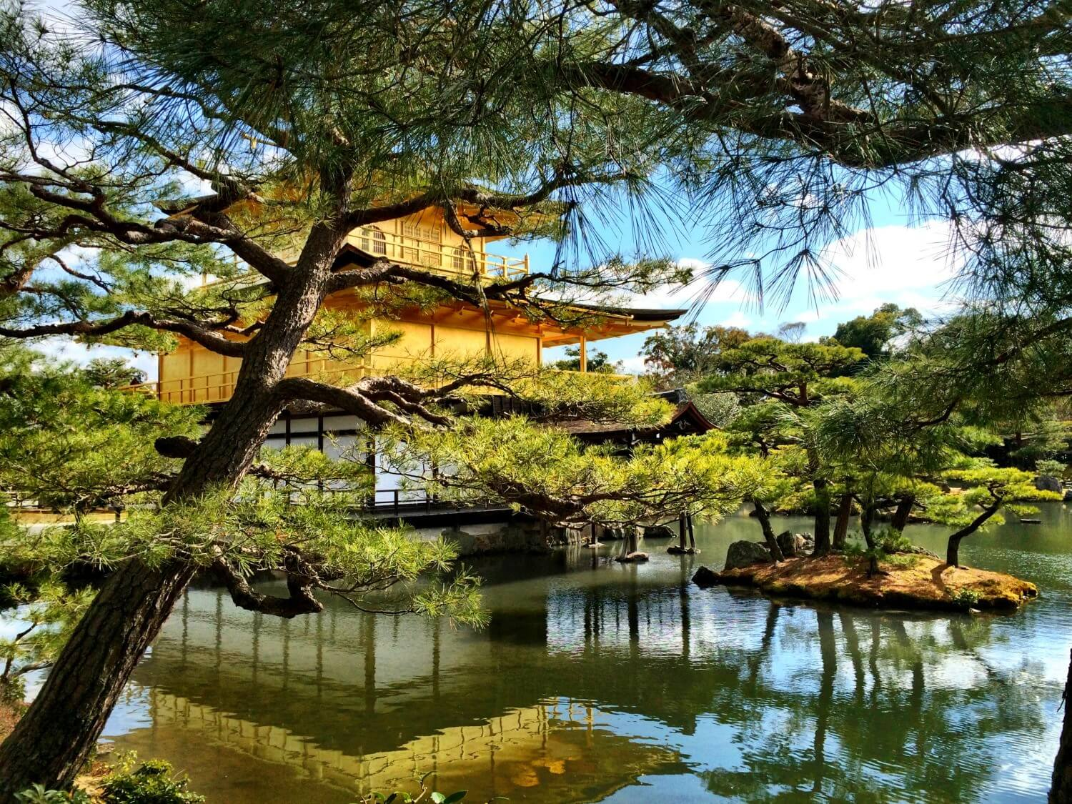 Photos of the Golden Pavilion in Kyoto