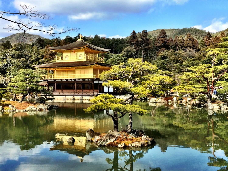 photos of kyoto golden pavilion