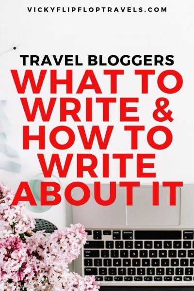 writing a travel blog
