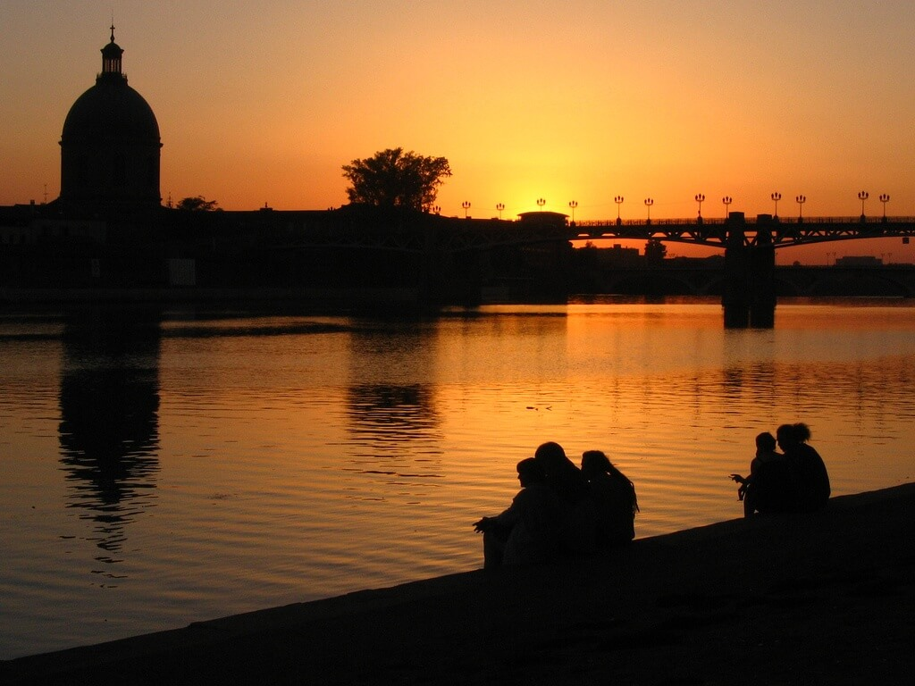 Toulouse sunset