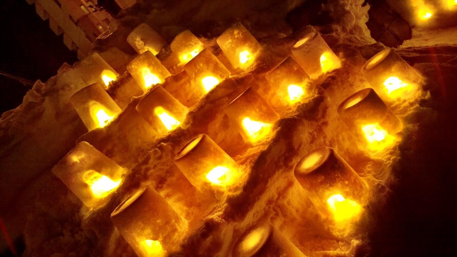 Photos of the Otaru Light Path Festival