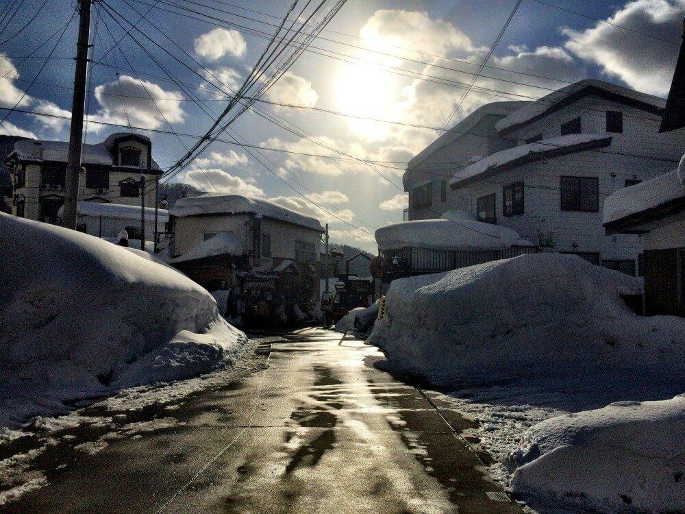Skiing in Japan